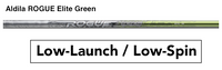Aldila Rogue Elite Green: Low-Launch & Low-Spin Custom Golf Shaft FREE Factory Adapter Tip!!!