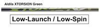 Aldila Xtorsion Green: Low-Launch & Low-Spin Custom Golf Shaft FREE Factory Adapter Tip!!!