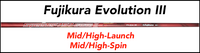 Fujikura Speeder Evolution III: Mid/High-Launch  Mid/High-Spin Custom Golf Shaft FREE Factory Adapter Tip!!!
