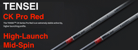 Mitsubishi Tensei CK Pro Red: High-Launch & Mid-Spin Custom Golf Shaft FREE Factory Adapter Tip!!!