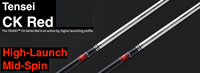 Mitsubishi Tensei CK Red: High-Launch & Mid-Spin Custom Golf Shaft FREE Factory Adapter Tip!!!
