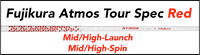Fujikura ATMOS Tour Spec Red: Mid/High-Launch Mid/High-Spin Custom Golf Shaft FREE Factory Adapter Tip!!!