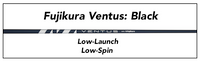 Fujikura Ventus Black: Low-Launch Low-Spin Custom Golf Shaft FREE Factory Adapter Tip!!!