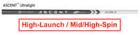 Aldila Ascent Ultralight: High-Launch & Mid/High-Spin Custom Golf Shaft FREE Factory Adapter Tip!!!