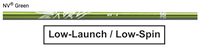 Aldila NV Green: Low-Launch & Low-Spin Custom Golf Shaft FREE Factory Adapter Tip!!!