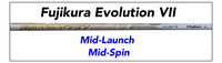 Fujikura Evolution VII: Mid-Launch Mid-Spin Custom Golf Shaft FREE Factory Adapter Tip!!!