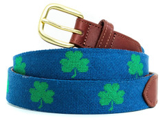 Shamrock Needlepoint Belt