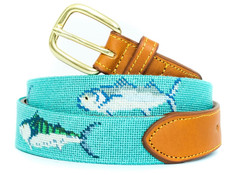 Sport Fish Needlepoint Belt