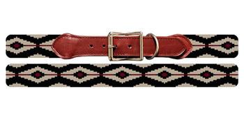Linear Diamonds Needlepoint Dog Collar
