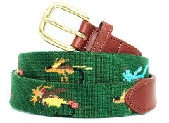 Colorado Fishing Flies Needlepoint Belt