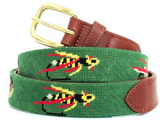 Montana Fly Fishing Needlepoint Belt