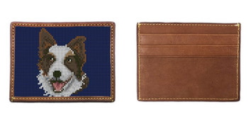 Border Collie Needlepoint Card Wallet