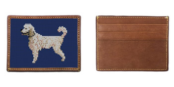 Poodle Needlepoint Card Wallet