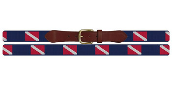 Scuba Diving Flag Needlepoint Belt