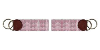 Pink Geometry Needlepoint Key Fob