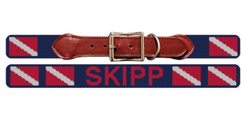 Scuba Diving Flag Needlepoint Dog Collar