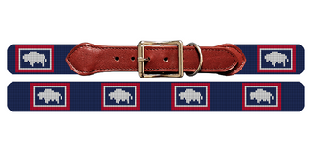 Wyoming Flag Needlepoint Dog Collar