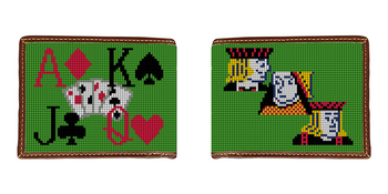 Poker Needlepoint Wallet