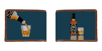 Whiskey Needlepoint Wallet