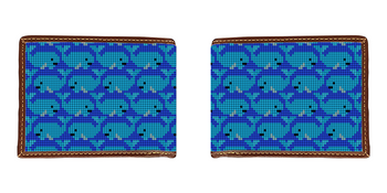 Whale Needlepoint Wallet