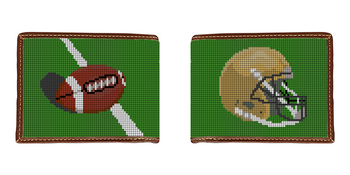 Custom Football Needlepoint Wallet