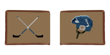 Hockey Needlepoint Wallet
