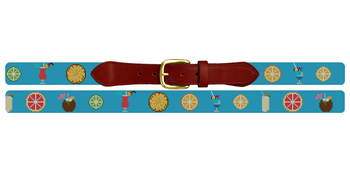 Summer Cocktail Needlepoint Belt