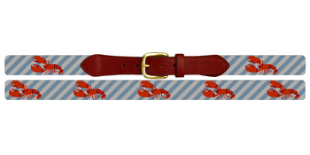 Classic Lobster Needlepoint Belt