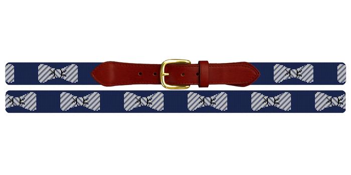 Seersucker Bow Ties Needlepoint Belt