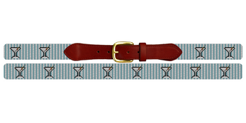 Seersucker Martini Needlepoint Belt