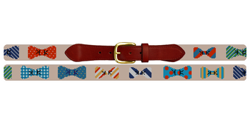 Bow Ties Needlepoint Belt