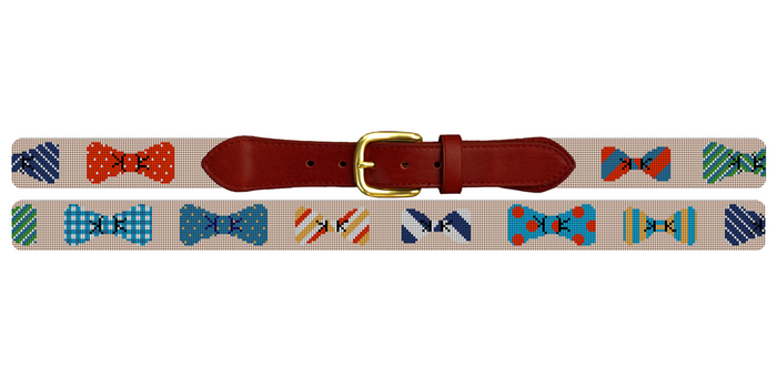 Bow Ties Needlepoint Belt