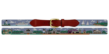 Martha's Vineyard Needlepoint Belt