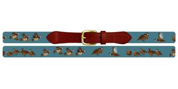 Bobwhite Quail Needlepoint Belt