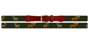 Big Game Profile Needlepoint Belt