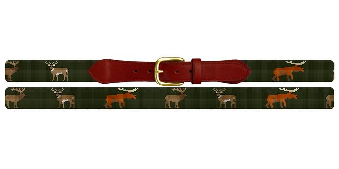 Big Game Profile Needlepoint Belt