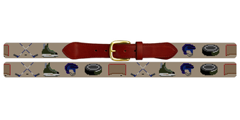 Hockey Gear Needlepoint Belt
