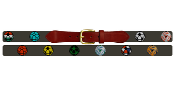 World Soccer Needlepoint Belt