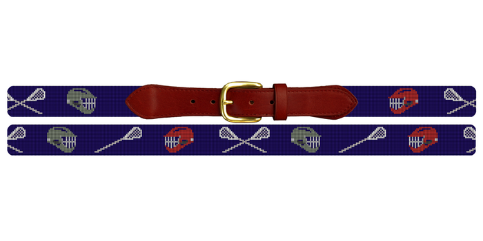 Custom Lacrosse Needlepoint Belt