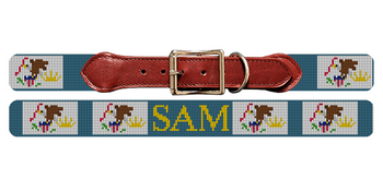 Illinois Flag Needlepoint Dog Collar