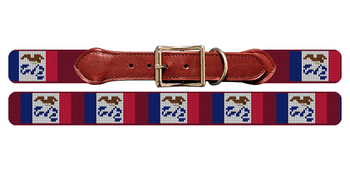 Iowa Flag Needlepoint Dog Collar
