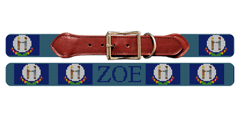 Kentucky Flag Needlepoint Dog Collar