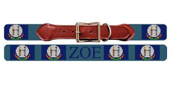 Kentucky Flag Needlepoint Dog Collar