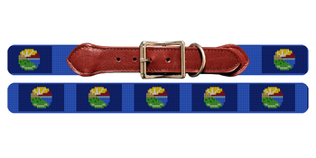 Montana Flag Needlepoint Dog Collar