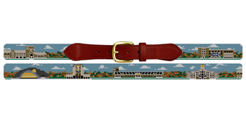 Custom College Campus Needlepoint Belt
