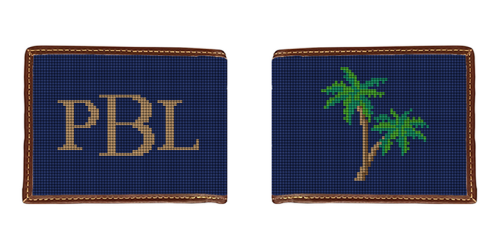 Palm Tree Needlepoint Wallet