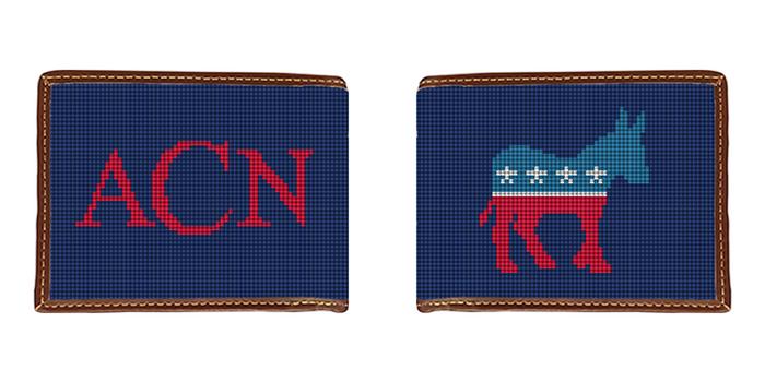 Democratic Needlepoint Wallet