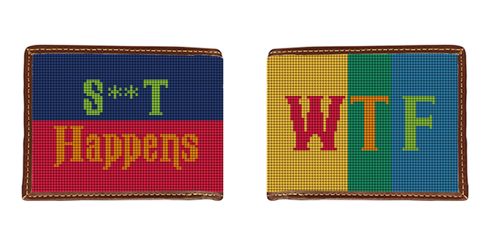 WTF Color Needlepoint Wallet