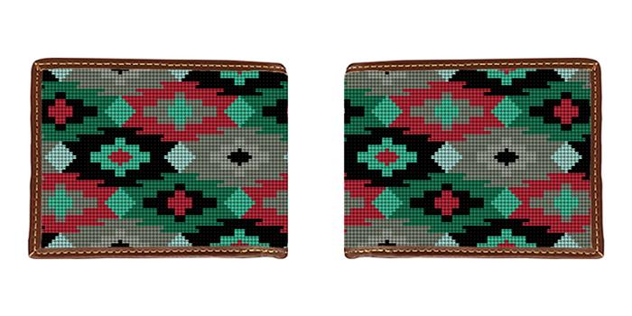 Aztec Needlepoint Wallet
