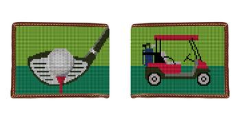Golf Needlepoint Wallet